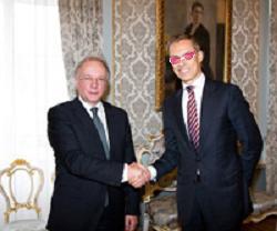 Siarhej Martynau och Alexander Stubb