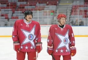 putin och lukasjenka hockey
