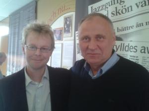 Mikola Statkevitj och Martin Uggla